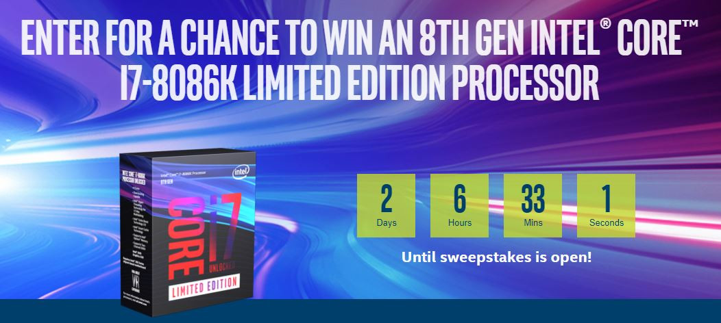 i7 8086k concours Intel