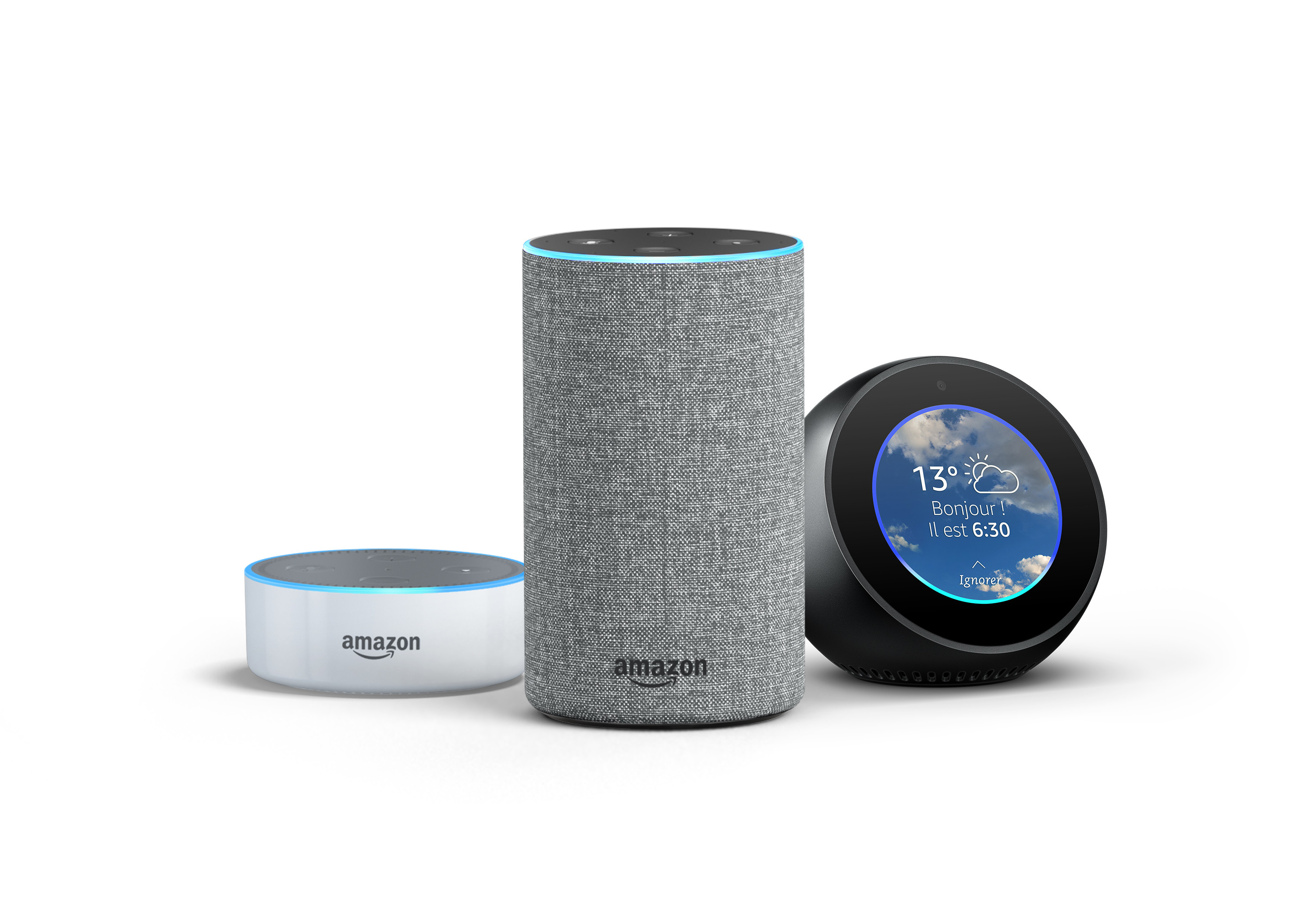 amazon lance alexa et sa gamme echo en france france actu. Black Bedroom Furniture Sets. Home Design Ideas