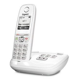 AS470A - Blancavec répondeur avec mains libres 300 mètres 1 combiné 200 heures 100 mémoires 18 heures Téléphone DECT sans fil blanc