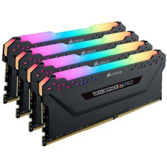 Vengeance RGB PRO Series 4 x 8 Go DDR4 PC21300 (CMW32GX4M4A2666C16)8 Go Quad Channel 32 Go DIMM DDR4 PC21300 - 2666 Mhz A Vie Vengeance 16 1,2 V RGB