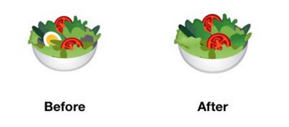 emoji salade android p