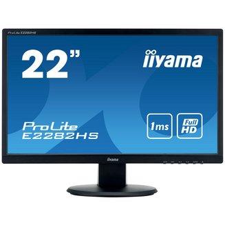 ProLite E2282HS-B1250 cd/m² 160° 22 pouces LED 1 ms 16:9 170 Full HD 80,000,000:1 1920 x 1080 1 x VGA D-Sub 1 x HDMI 2 an(s) 1 x DVI-D 1 x DVI