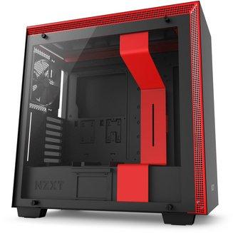 H700 (Fenêtre) - Noir/RougeBoitier moyen tour ATX Micro ATX sans alimentation Oui Mini ITX 7 140 mm Plastique 7 3 Acier, Verre Trempé E-ATX Noir / rouge