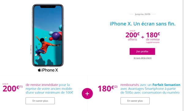 Jusqu A 380 Euros Rembourses Sur L Iphone X Chez Bouygues Telecom