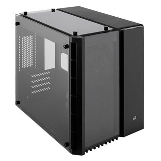 Crystal 280X (Fenêtre) - NoirMicro ATX sans alimentation Oui Boitier mini tour Mini ITX 140 mm Plastique 2 6 3 Acier, Verre Trempé Noir