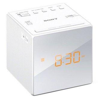 ICF-C1W - Blancsans radio internet Tuner FM Radio reveil horloge Horloge intégrée