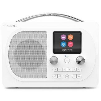 Evoke H4 Prestige Edition - BlancBluetooth sans radio internet Tuner FM Horloge intégrée Réveil numérique DAB+