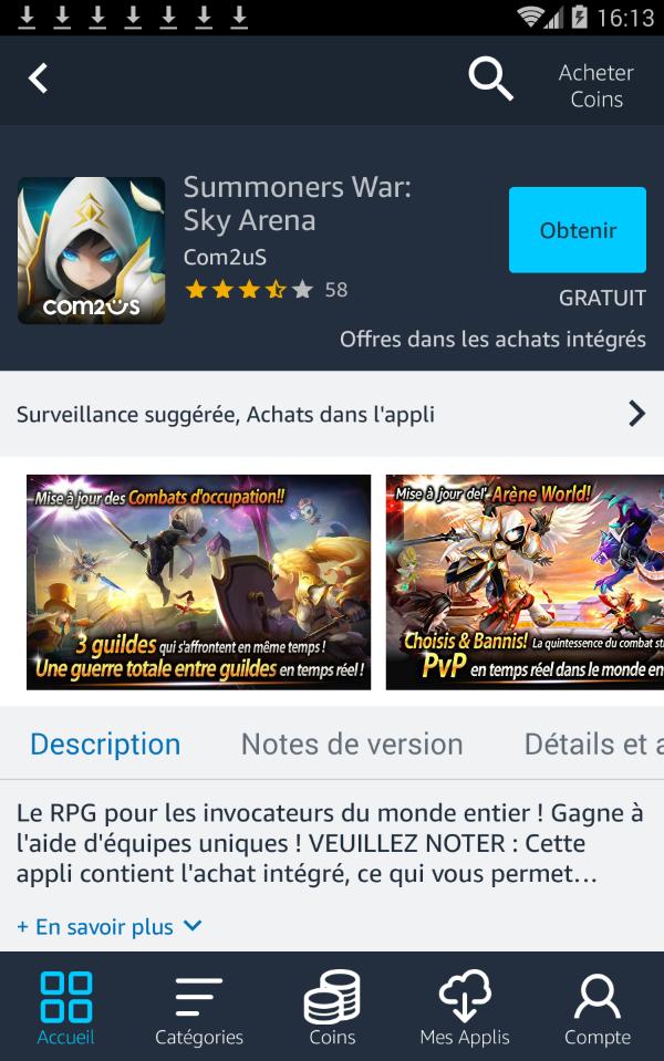 Télécharger Amazon App Store (APK) pour Android