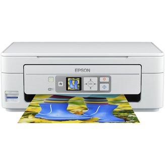 Expression Home XP-355 - BlancA4 15 ppm en couleurs multifonctions 33 ppm en noir et blanc sans fax MiniSD WiFi SDHC MicroSD MiniSDHC USB 2.0 5760 x 1400 dpi 1200 x 2400 dpi Jet d'Encre Couleur Multifonction SDXC