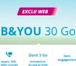 Le forfait mobile B&You 30 Go à 9,99€/mois (pas seulement la première année) !