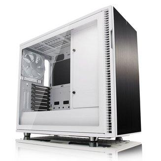 Define R6 White TG (Fenêtre)Boitier moyen tour ATX Micro ATX Acier sans alimentation Mini ITX 140 mm Blanc 6 2 6 1 Verre trempé E-ATX