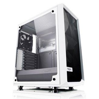 Meshify C TG (Fenêtre) - BlancBoitier moyen tour ATX Micro ATX sans alimentation Oui Acier Mini ITX 7 140 mm 2 3 Verre trempé Blanc