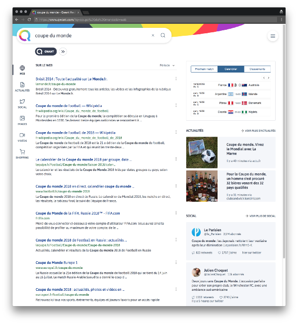 qwant interface 2018