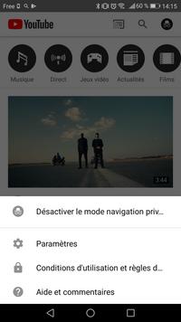 youtube mode privé 3