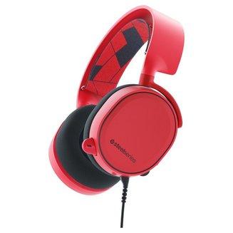 Arctis 3 - Rougefilaire 1,2 mètres 100 Hz - 10 KHz Neodymium 20 Hz à 22 KHz Rouge Jack 3,5 mm 98 dB Circum-aural