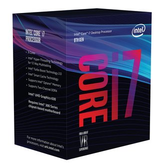 Core i7-8700Intel Core i7 Technologie Turbo Boost 2.0 Intel Ventilateur Radiateur 3,2 GHz Socket 1151 3 an(s) 10 Mo UHD Graphics 630