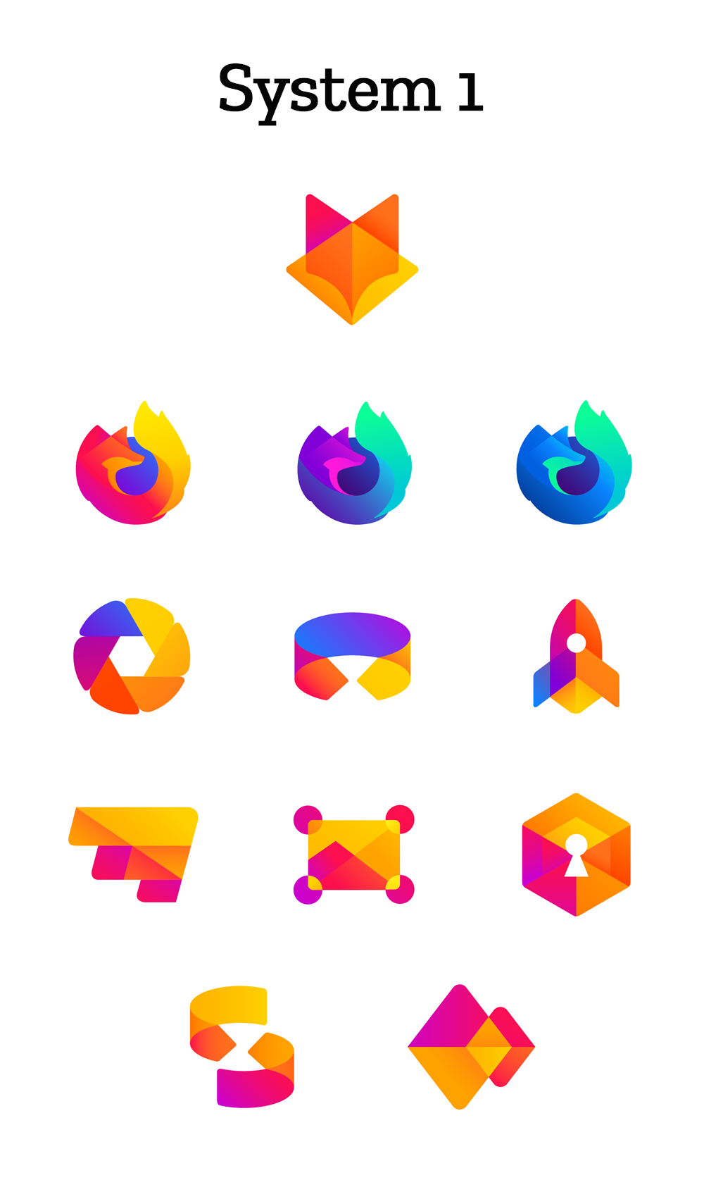 Mozilla Firefox New Icons