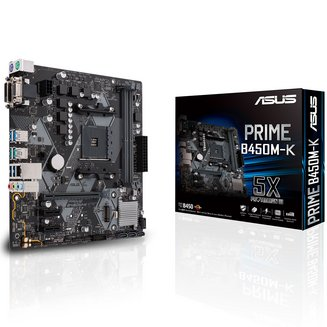 PRIME B450M-KOui Oui Micro ATX 2 AMD AMD 2 x PCI Express 2.0 x1 1 x PCI Express 3.0 x16 0 1 10 4 Serial ATA III Realtek 6 32 Go 6 2 8 DDR4 Realtek RTL8111H Socket AM4 ALC887-VD2 AMD B450