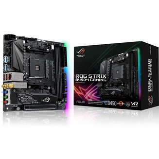 STRIX B450-I GAMINGOui Oui 2 AMD AMD 1 x PCI Express 3.0 x16 Serial ATA III Mini ITX 4 6 32 Go 8 6 DDR4 SupremeFX Intel I211-AT Socket AM4 SupremeFX S1220A AMD B450