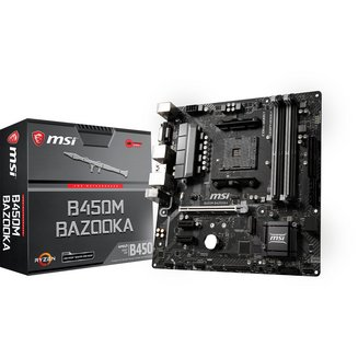 B450M BAZOOKA4 Oui Oui Micro ATX AMD AMD 64 Go 2 x PCI Express 2.0 x1 1 x PCI Express 3.0 x16 0 1 10 4 Serial ATA III 4 Realtek 4 8 8 DDR4 ALC892 Realtek RTL8111H Socket AM4 AMD B450