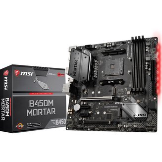 B450M MORTAR4 Oui Oui Micro ATX AMD AMD 64 Go 2 x PCI Express 2.0 x1 1 x PCI Express 3.0 x16 0 1 10 Serial ATA III 4 Realtek 8 2 8 6 DDR4 ALC892 Socket AM4 1 X PCI Express 2.0 16x (4x) AMD B450