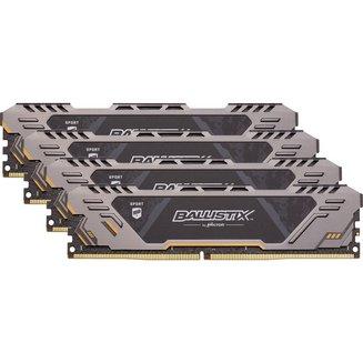 Ballistix Sport AT 4 x 8 Go DDR4 PC21300 (BLS4C8G4D26BFSTK)8 Go Quad Channel 32 Go DDR4 PC21300 - 2666 Mhz Ballistix Sport 16 10 an(s)