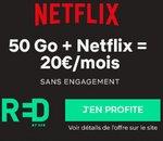 Bon plan RED by SFR : le forfait 50Go avec Netflix inclus à 20€/mois !