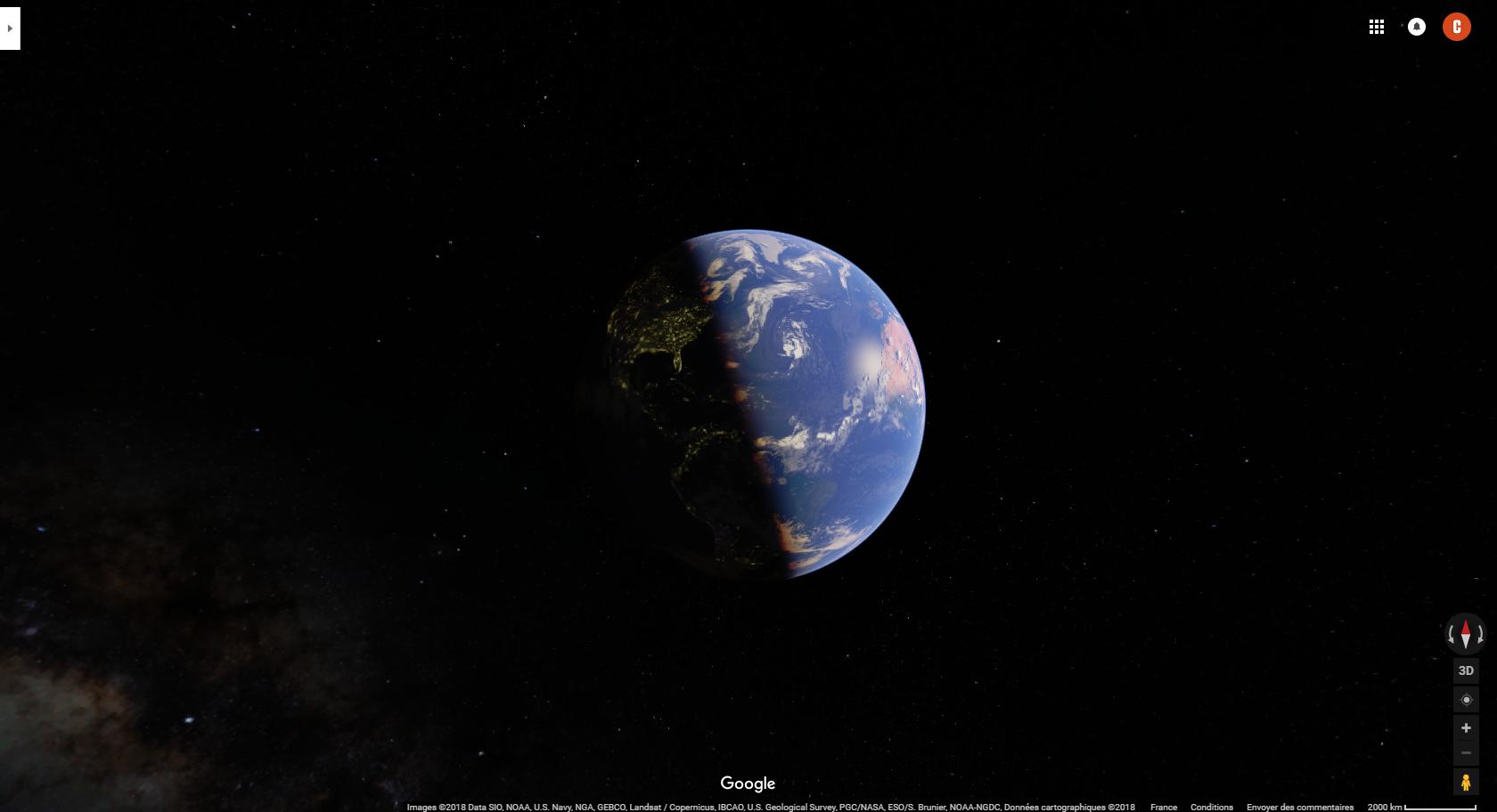 Google maps remplace son planisphère par un globe terrestre