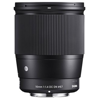 16mm F1/4 DC DN Noir pour monture Sony ECompatible Sony E 19mm Zoom grand-angle F/1.4