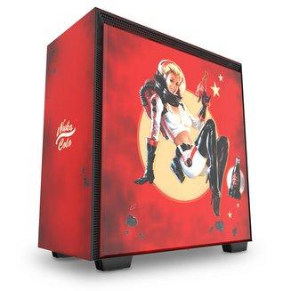 H700 Nuka-Cola Limited Edition (Fenêtre) - RougeBoitier moyen tour ATX Micro ATX sans alimentation Oui Acier Mini ITX 7 140 mm Plastique 7 3 Acier, Verre Trempé E-ATX