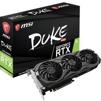 GeForce RTX 2080 Ti DUKE OC - 11 Go (GeForce-RTX-2080-Ti-DUKE-11G-OC)avec ventilateur 3 x DisplayPort 1.4 1 x HDMI 2.0 11 Go GeForce RTX 2080 Ti GDDR6 1 x USB 3.1 Type C
