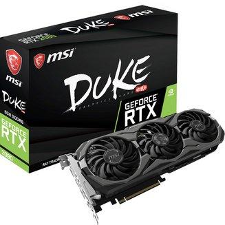 GeForce RTX 2080 DUKE OC - 8 Go (GeForce-RTX-2080-DUKE-8G-OC)avec ventilateur 8 Go 3 x DisplayPort 1.4 1 x HDMI 2.0b GDDR6 1 x USB 3.1 Type C GeForce RTX 2080