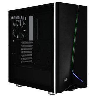 Carbide SPEC-06 RGB TG (Fenêtre) - NoirBoitier moyen tour ATX Micro ATX sans alimentation Oui Acier Mini ITX 4 120 mm 2 6 Verre trempé Noir