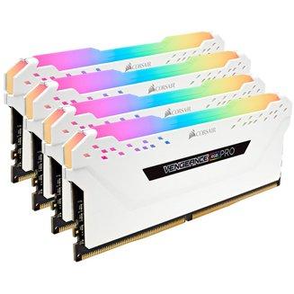 Vengeance RGB PRO Series 4 x 16 Go DDR4 PC25600 (CMW64GX4M4C3200C16W)DIMM 16 Go Quad Channel DDR4 A Vie PC25600 - 3200 MHz 64 Go Vengeance 1,35 V 16 RGB