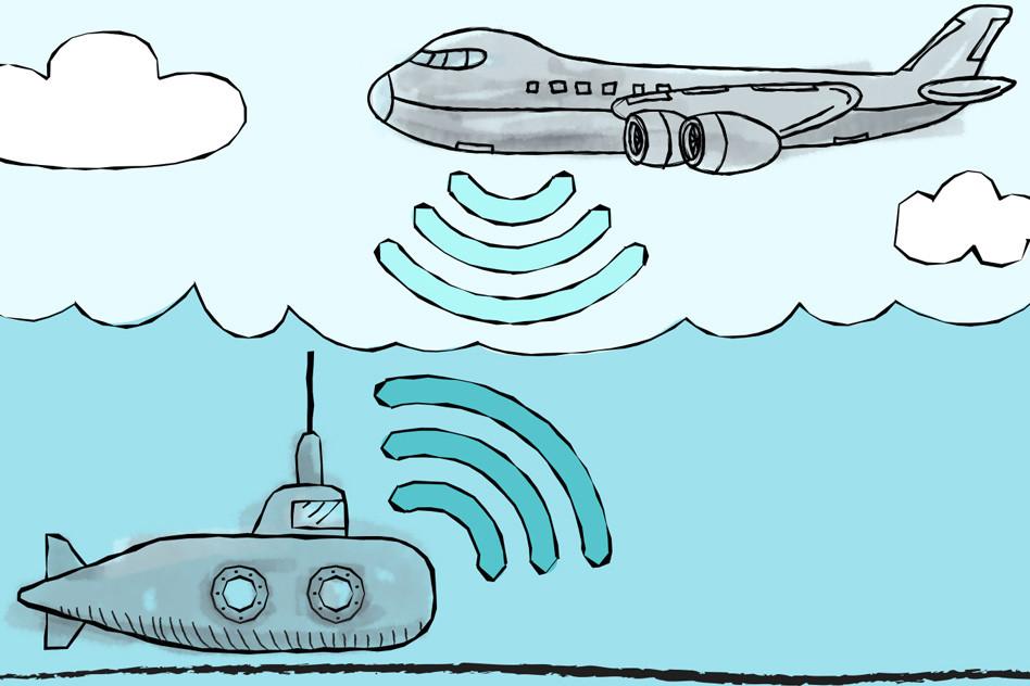 communication sous-marin avion mit 2018
