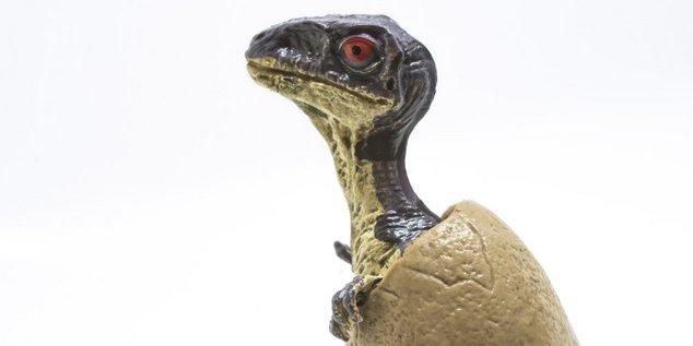 un dinosaure en plastique c