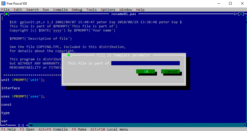 turbo pascal 1.5 gratuit pour windows xp