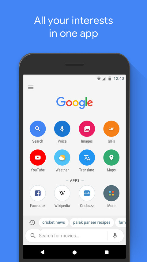 Google Go Promo Screen