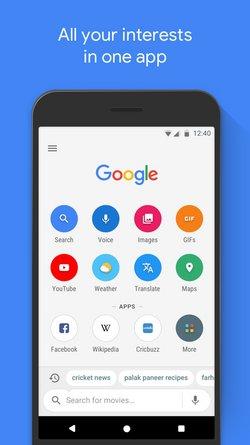 Google Go Promo Screen