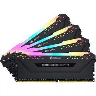 Vengeance RGB PRO 4 x 16 Go DDR4 PC21300 (CMW64GX4M4A2666C16)DIMM DDR4 PC21300 - 2666 Mhz A Vie 4 x 16 Go 64 Go Vengeance 1,35 V 16 RGB LED