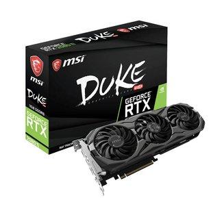 GeForce RTX 2080 Ti Duke OC - 11 Go (GEFORCE RTX 2080 TI DUKE 11G OC)avec ventilateur PCI Express x16 2 an(s) 3 x DisplayPort 1.4 1 x HDMI 2.0b 11 Go GeForce RTX 2080 Ti GDDR6 1 x USB Type-C