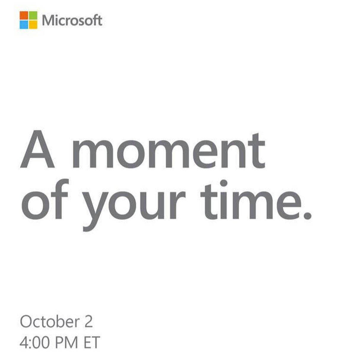 Evenement Microsoft Surface Octobre 2018