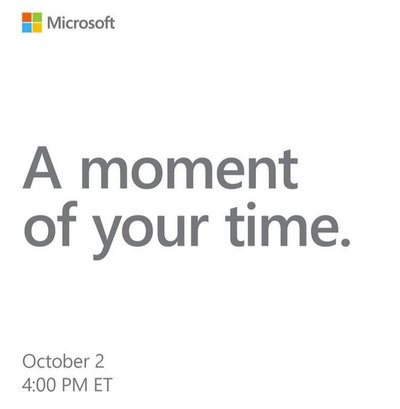 evenement microsoft surface octobre 2018