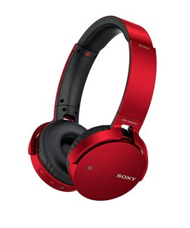 Casque sans fil EXTRA BASS™ MDR-XB650BT Rougesans fil Bluetooth 10 mètres 180 grammes Supra-aural Bluetooth Rouge