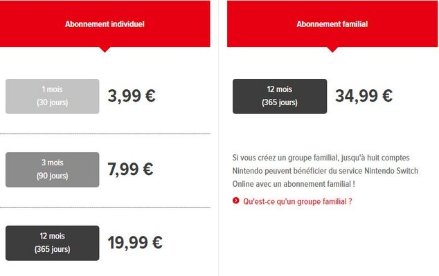 switch online prix
