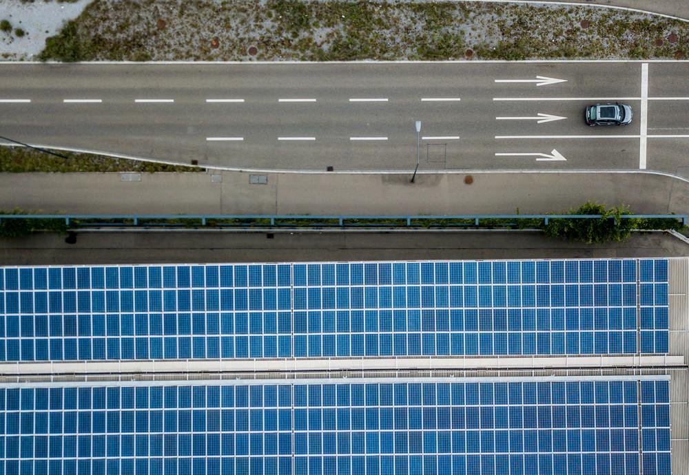 Panneaux solaires route