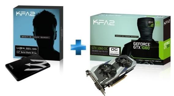 Bon Plan : la GTX 1060 et le SSD KFA2 Gamer 120Go à 270 euros