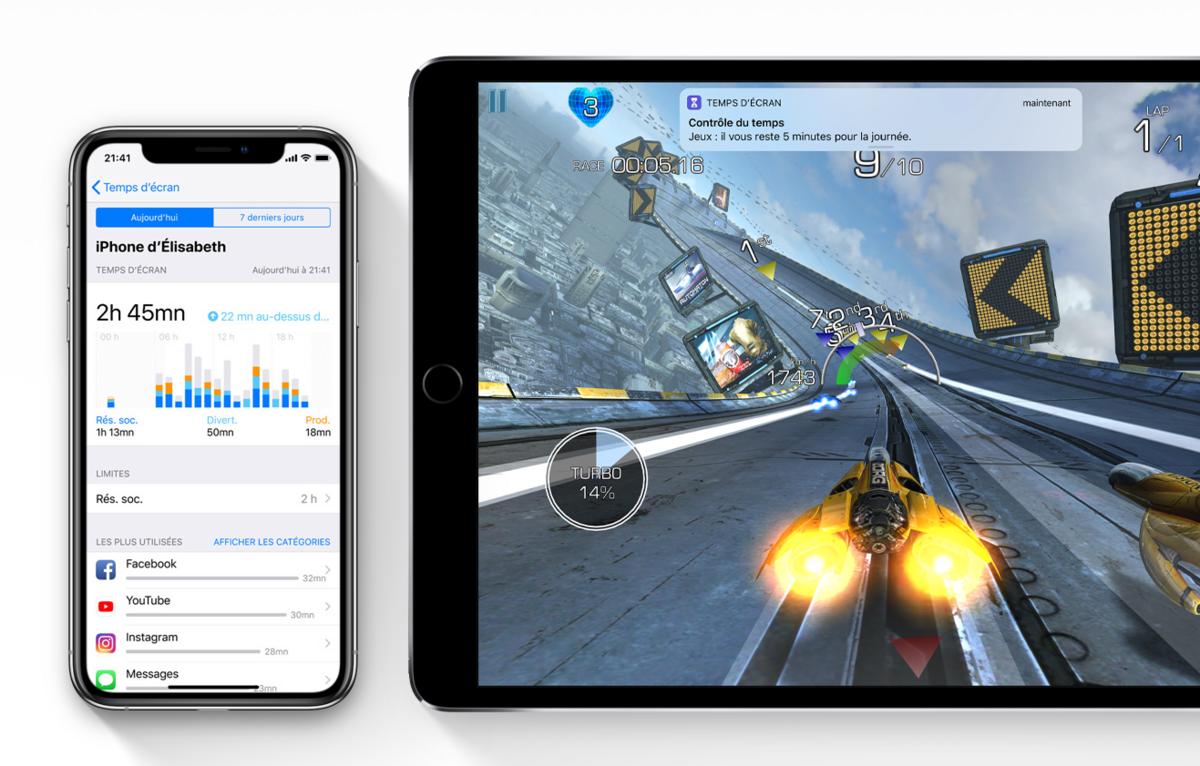 iOS 12 temps d'écran détail