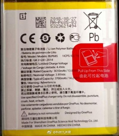 OnePlus 6T batterie