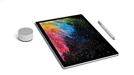 Microsoft Surface Book 2 (13 pouces)16 Go 256 Go avec écran tactile Intel HD Graphics 620 Windows 10 64 bits 3000 x 2000 13,5 pouces 1,6 kg Quad Core Intel 17 Heure(s)